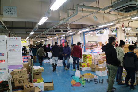 売場の様子_水産1のフリー素材(市場の写真)