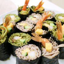 川崎市地方卸売市場南部市場海鮮恵方巻蕎麦寿司