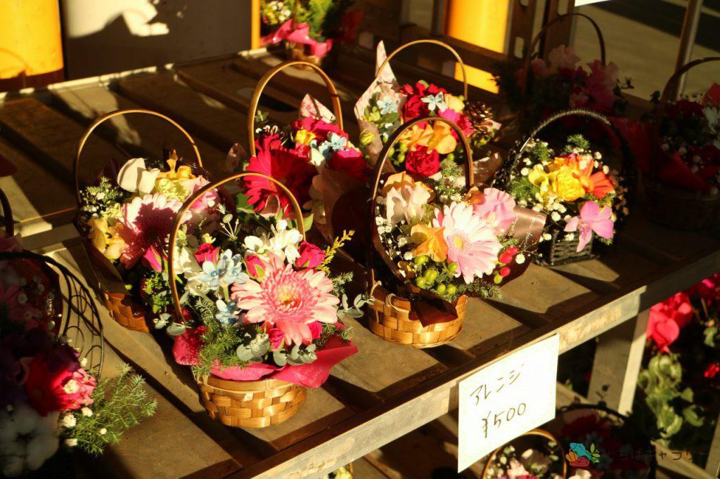 花1のフリー素材(市場の写真)