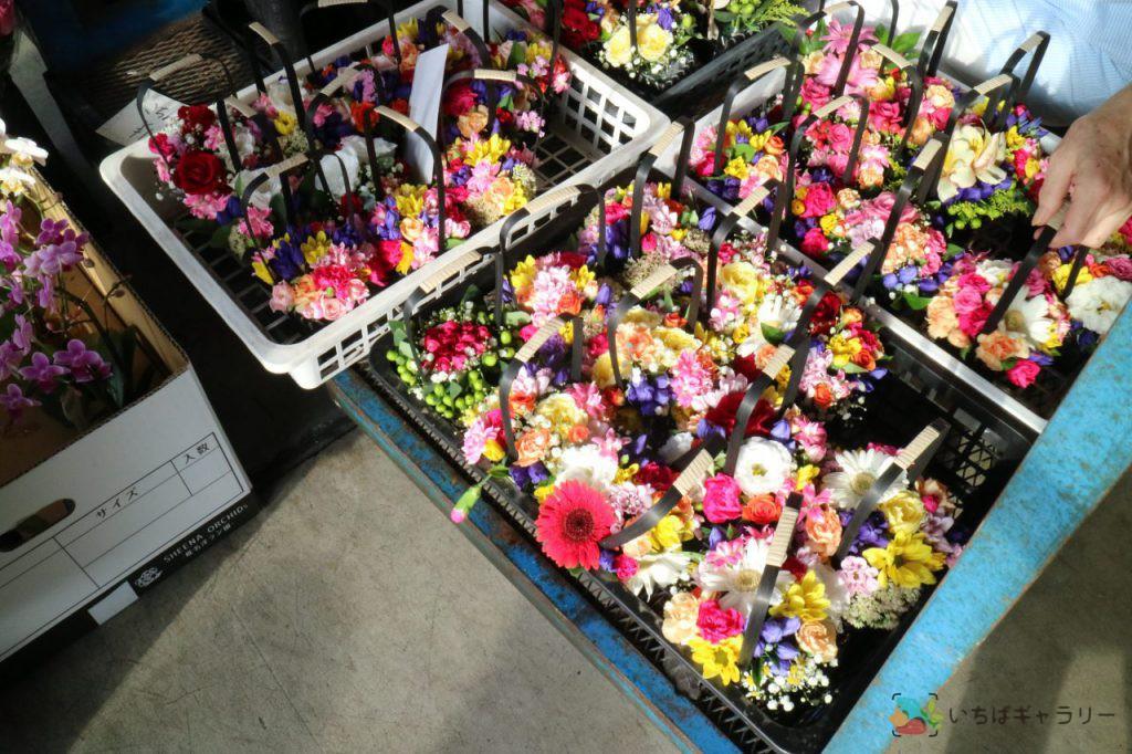花4のフリー素材(市場の写真)