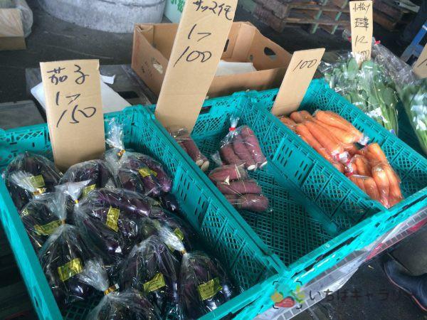 野菜のフリー素材(市場の写真)