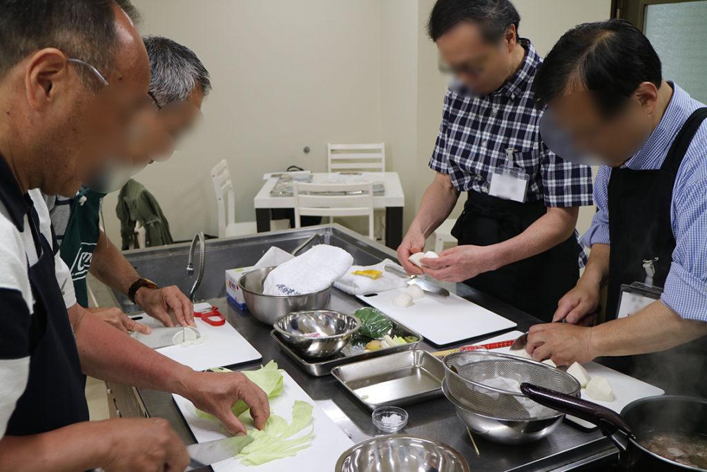 料理教室の参加者