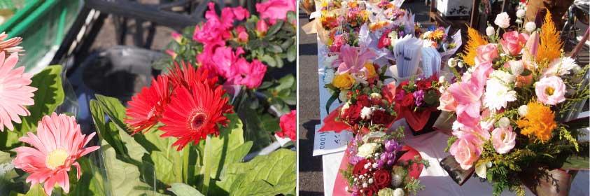 川崎幸市場花き売場フラワーアレンジメントの写真
