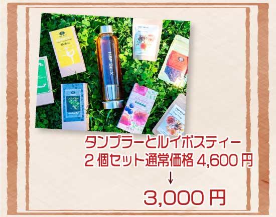 タンブラーとルイボスティー2個セット通常価格4,600円→3,000円