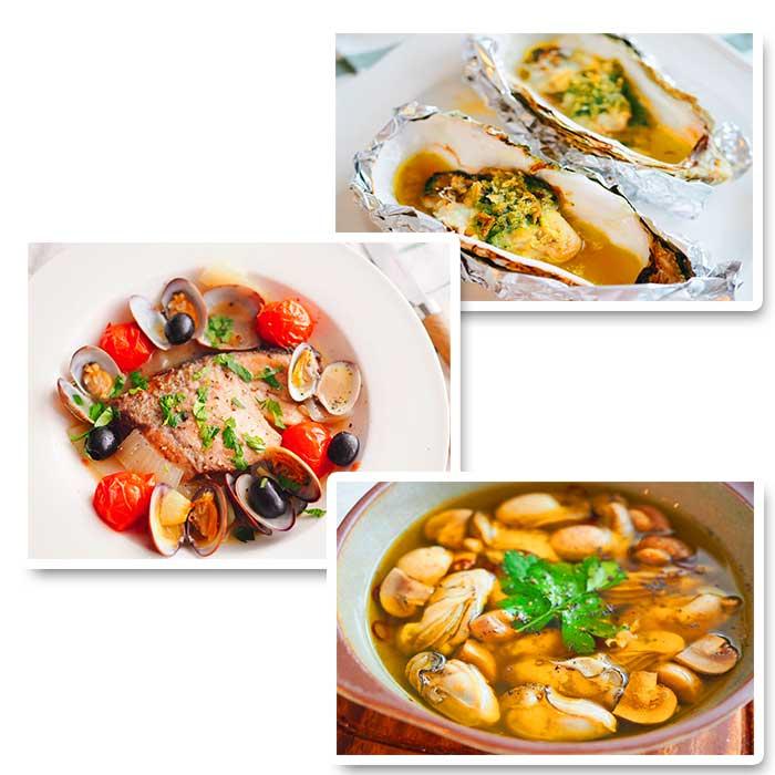 川崎幸市場料理教室「牡蠣とマッシュルームのアヒージョ」「殻付き牡蠣のエスカルゴ風」「ブリの切り身で簡単アクアパッツァ」