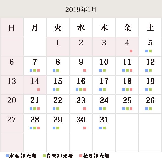川崎幸市場1月休市場予定