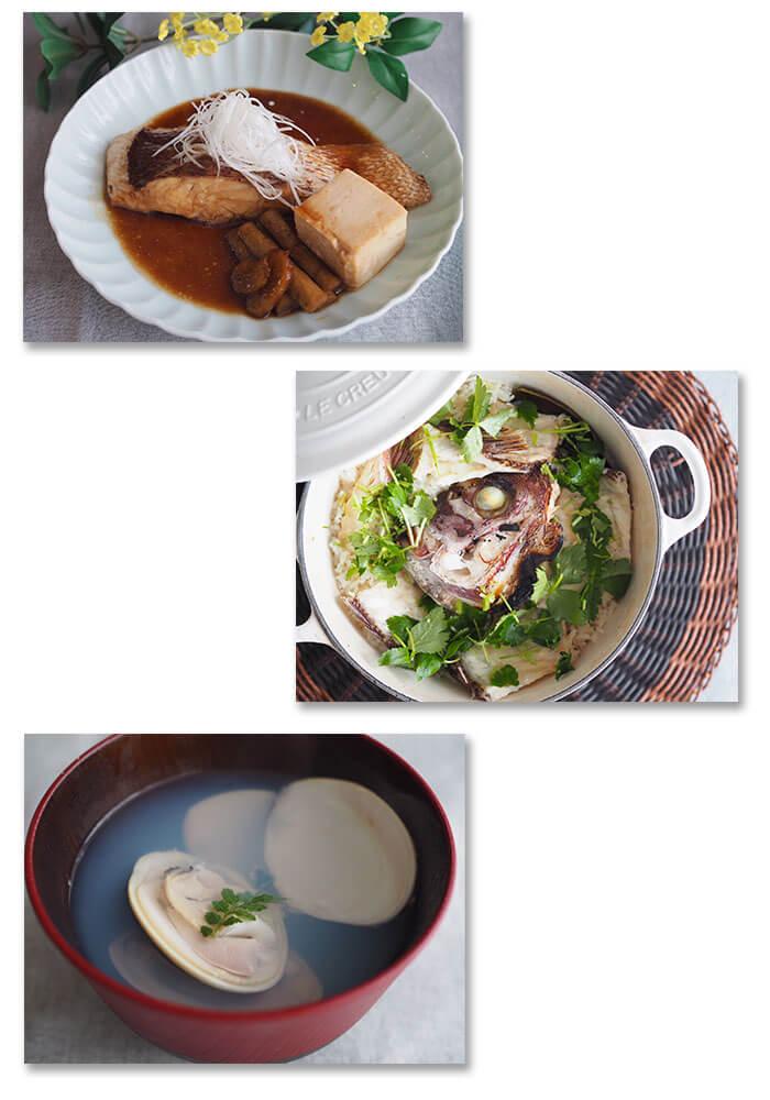 川崎幸市場鯛とはまぐりの料理教室