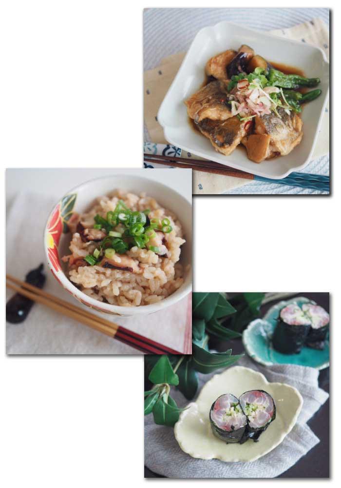 川崎幸市場タコ飯アジの煮浸しアジの刺し巻き料理教室