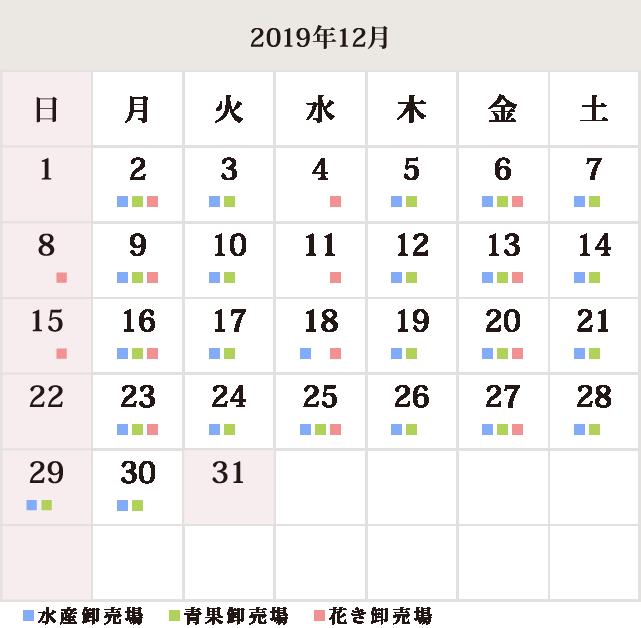川崎幸市場12月休市場予定