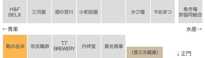 有限会社靴の岳未 関連業者エリア 店舗配置図